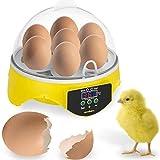 SANGSHI Macchina per incubatrice completamente automatica, 7 uova, per incubatore, controllo automatico della temperatura, pappagallo di quartiere per la casa