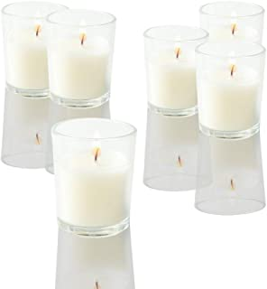 SUPREME LIGHTS /·2017/· Clear Glass Votive Candle Holders for Weddings Parties Emergency Candles 24 Pack Birthday Decorations Unscented Candles in Bulk