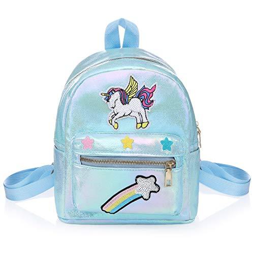 WolinTek Zaino Unicorno per Bambini, Mini Unicorn Zaino,Borsa Scuola Ragazza, Unicorn Sacchetto Di Scuola Unicorn Regalo Ragazza Zaino, Zaini Bambina per viaggi scolastici (Blu)