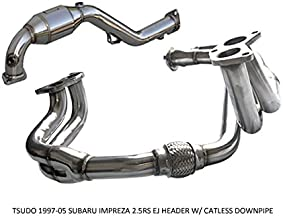 Tsudo Compatible/Replacement for 1997-05 Subaru impreza 2.5RS EJ Header V2 W/Catless downpipe