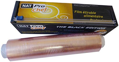 Rollo profesional de film transparente con cortador de cremallera - 30 cm x 300 m