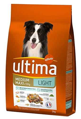 Ultima Ultima dry adult light medium hunde maxi 10 kg chicken rice 2kg format (3er-set)