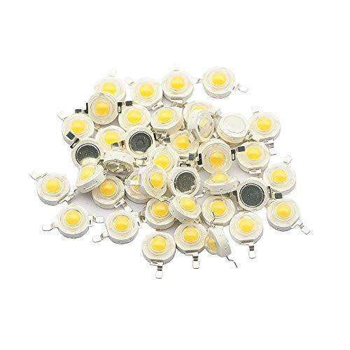 10 Uds 1W 3W LED de alta potencia diodo emisor de luz LED Chip SMD blanco cálido rojo verde azul amarillo para foco de luz empotrable bombilla de lámpara-Verde_3W 100 piezas