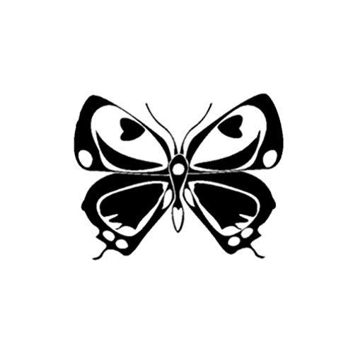 GenericBrands 3 Piezas Etiqueta engomada del Coche 15,3 CM * 12,2 CM Hermosa Mariposa Vinilo Etiqueta engomada del Coche Negro
