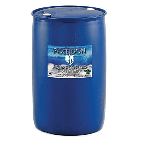 Froggys Fog Poseidon Aqua Fog Fluid - SD 55 Gallon Drum Short Distance Application for Ultrasonic Fog Machines