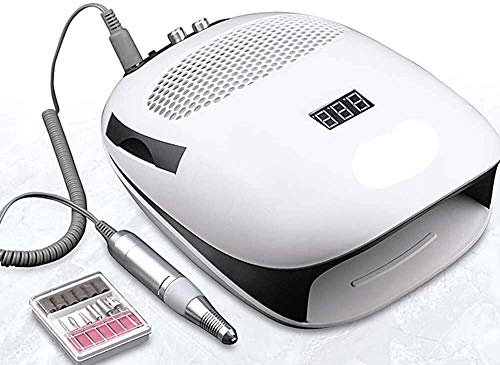 Nail Drill 140W 3-IN-1 Nail Boor Manicure Machine & Nail Dust Stofzuiger & UV-lamp afzuigkap