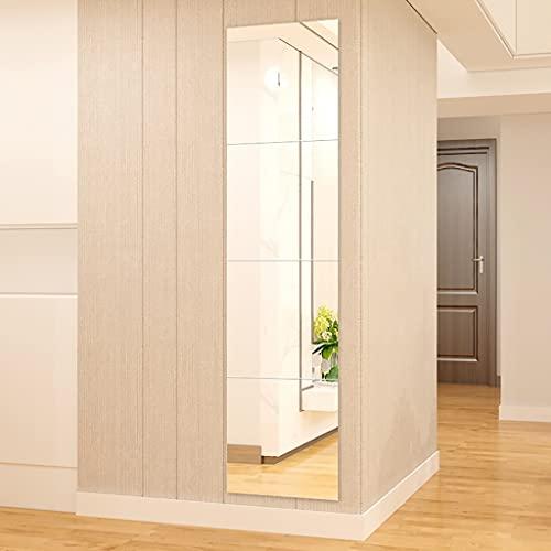 Espejo baño Espejos Pared Mirror Espejos De Baño, Dormitorio Rectangular Espejo De Tocador Sin Marco - Espejo De Longitud Completa - Espejo De Afeitado Decoración De Baño, 4 Empalmamient(Size:36cm*4 )