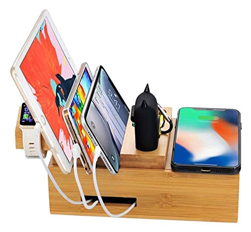 HCCHZR USB Multi-Function Fit Wireless Charger Dock Station Cell Phone Stand