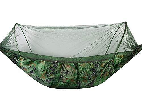 LVLUOKJ Hamaca para Acampar con mosquitera, Capacidad de Carga de 200 kg, Columpio Ultraligero para Exteriores, Transpirable, a Prueba de Insectos, para Senderismo, montaña, Aventura