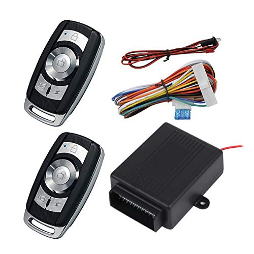 GARNECK 1 Set Keyless Car Security System Push Start Button 2 Key Fob Remote Start Engine Starter Universal Car Alarm Locking System for Car Auto Vehicle
