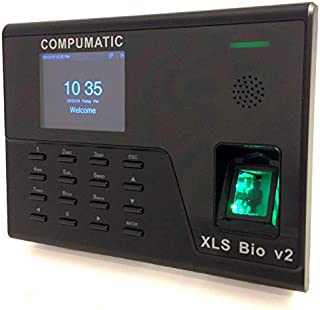 Compumatic XLS Bio v2 Biometric Fingerprint Time Clock System, WiFi, CompuTime101 Software Included, 0 NO Monthly Fees!!