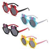 fande 4pcs minnie occhiali da sole,ragazze occhiali da sole occhiali da sole polarizzati per bambini occhiali da sole per le ragazze da 1 a 8 anni