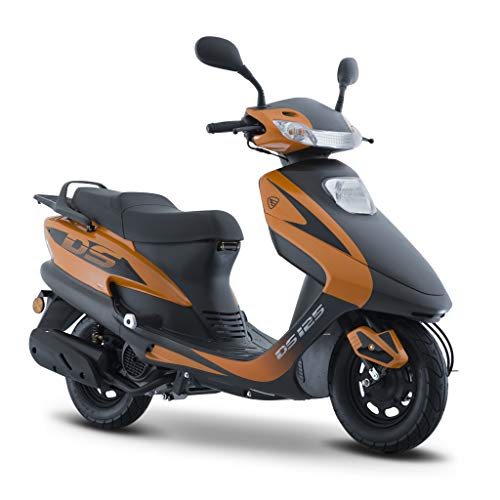 Motocicleta Italika de Motoneta- Modelo DS125 Naranja Negro