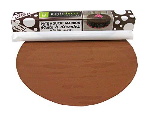 PATISDECOR Pate à Sucre Marron à Derouler Chocolat - Ø 36 cm - 350 g