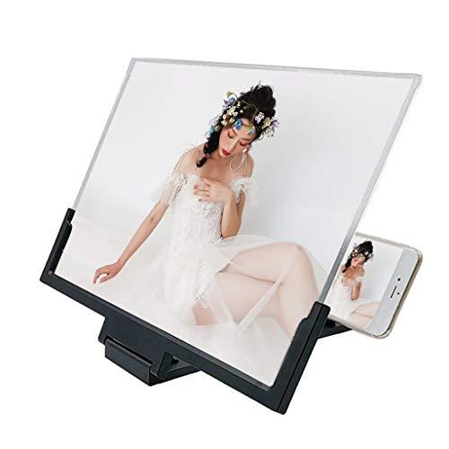 HSKB Handy Bildschirmlupe Halter mit 14 Zoll Bildschirm Lupe Vergrößerungsglas Universal Handy Ständer Halterung 3D Handy Bildschirmverstärker für alle Smartphone