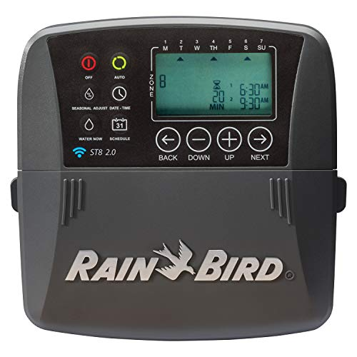 Rain Bird ST8I-2.0 Smart Indoor WiFi Sprinkler/Irrigation System Timer/Controller, WaterSense...