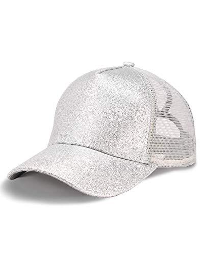 LIVACASA Cappello da Baseball Donna per Coda di Cavallo Materiale a Rete metà Berretto Sport con Visiera Estivo Regolabile Sportiva Esterno