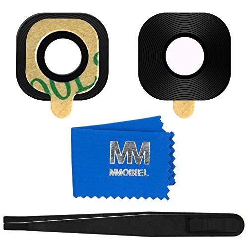 MMOBIEL Back Rück Kamera Glas Linse Ersatz Kompatibel mit Samsung Galaxy Xcover 4s (G398F) 5.0 inch Inkl Pinzette und Tuch