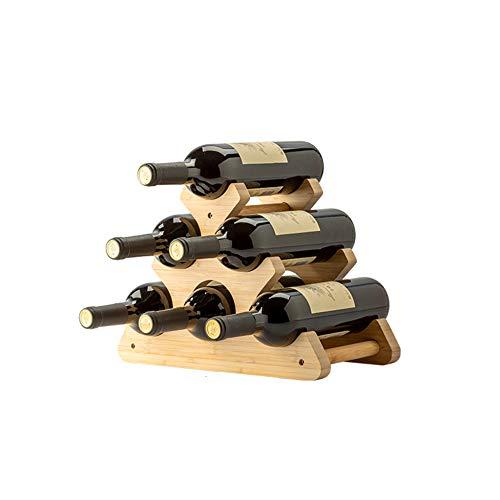 HLWJXS Madera Iza Estantería de Vino Decoración Soporte de Exhibición Casa Sala Botella de Vino Armario para Vinos Decoración Botella de Vino Sala/A / 35.5×17.5×25cm