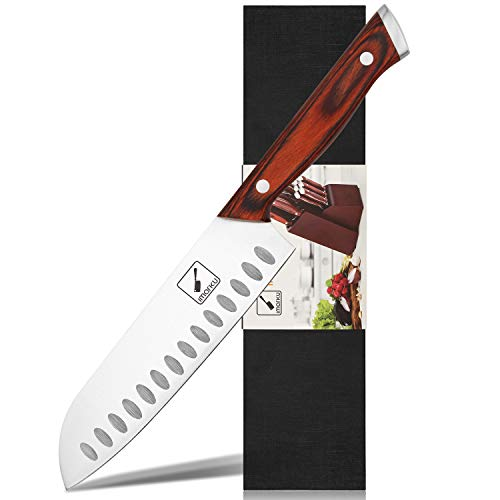 Santoku Knife - imarku Pro Kitchen Knives 7-Inch Chef's Knives, High Carbon Stainless Steel Knife with Ergonomic Handle, Ultra Sharp, Best Choice for Home Kitchen and Restaurant