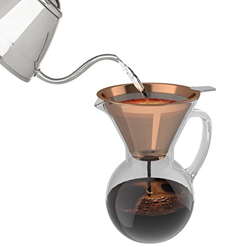 bonVIVO-Aldrono-Pour-Over-Coffee-Machine-Filter-Coffee-Maker-With-Reusable-Coffee-Filter-Made-Of-Stainless-Steel-Drip-Coffee-Maker-With-Glass-Jug-And-Coffee-Brewer-Filter-In-Copper-Finish-500ml