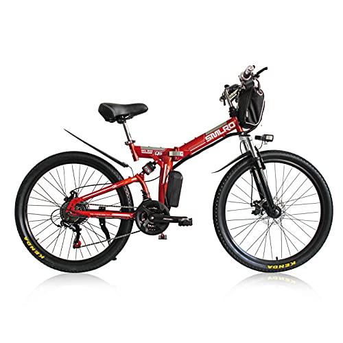 TAOCI Bicicletta elettrica da donna per adulti, per tutti i terreni, 350 W, 26 ',48 V, Shimano 21 velocità, batteria agli ioni di litio rimovibile, mountain bike per attività all'aperto