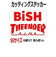 絵柄だけ残る ステッカー 『SS・S』アイナ・ジ・エンド THEENDER (赤, 10cm)