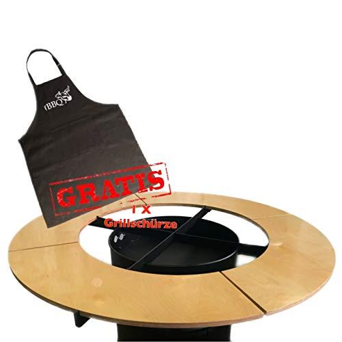 A. Weyck Tools Ronde tafel voor 80 cm vuurplaat grillplaat grillring Plancha vuurton grill