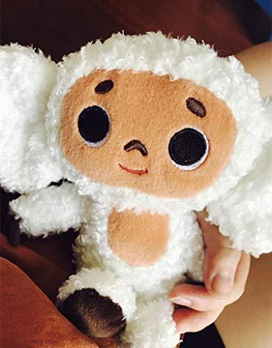 Lindo Juguete De Felpa Mono De Ojos Grandes con Ropa Muñeca Suave Rusia Anime Bebé Niños Dormir Apaciguar Juguetes para Niños Amarillo