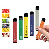 Colorful Puff Starter Bar Kits Disposable - Fruit Flavour - 6 Pcs Packing Box