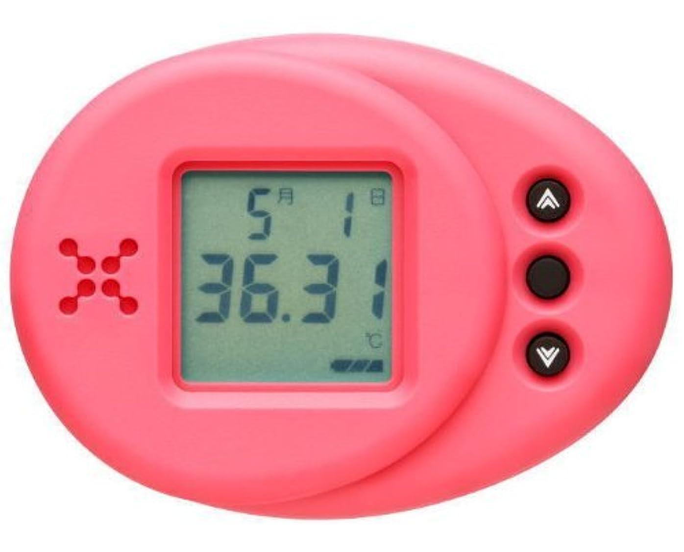 卵割れ目ドックランズナイトセルフ 女性のための衣服内温度計 ロータスピンク