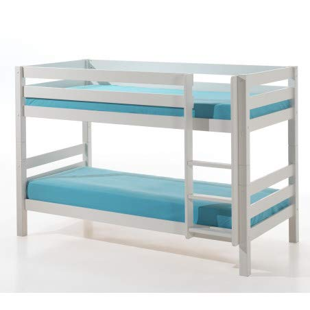 Alfred & Compagnie stapelbed H140 90x200 grenen Armance & Faustin wit
