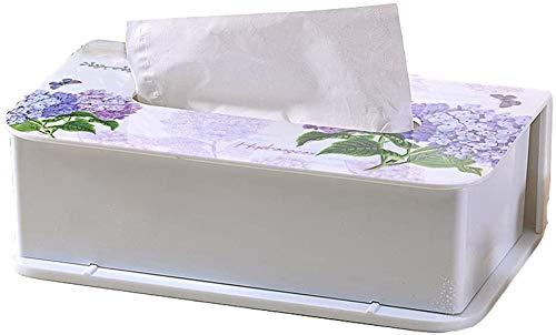 MUZIDP Caja de pañuelos para decoración europea, caja de pañuelos para el hogar, sala de estar, mesa de café, servilletas, caja de almacenamiento (tamaño grande: grande)