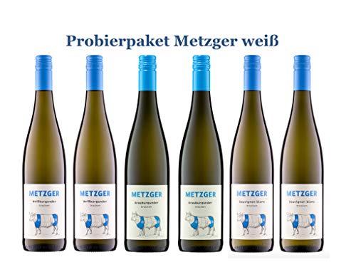 6 er Probierpaket Weißwein von Weingut Metzger   Grauburgunder, Weißburgunder, Sauvignon Blanc   Pfalz   6 x 0,75 l