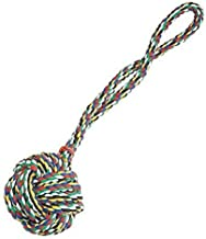 Monkey Fist Knot Rope Dog Toy Ball Handle Fetching Tugging Choose Size & Color(Large - 21