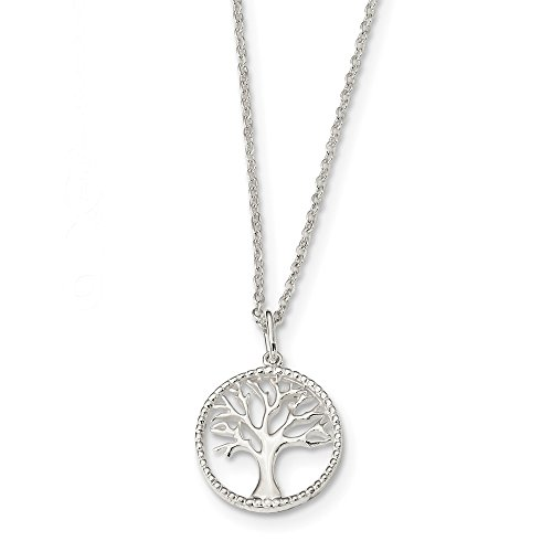 925 Sterling Silver Tree Of Life Chain Necklace Pendant Charm Leaf Fine Jewelry For Women Gifts For Her