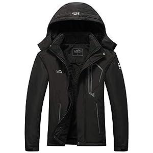 Pooluly Women's Ski Jacket Warm Winter Waterproof Windbreaker Hooded Raincoat Snowboarding...