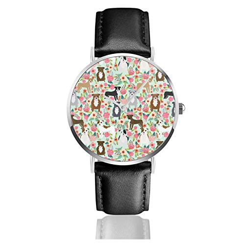 Reloj clásico, Pitbull Florals mixto abrigos Pibble Gifts Raza perro debe tener...