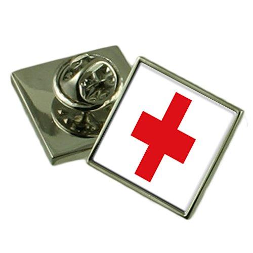 Select Gifts Rotes Kreuz Flagge Anstecknadel Abzeichen 18mm Wählen Sie Geschenk Tasche