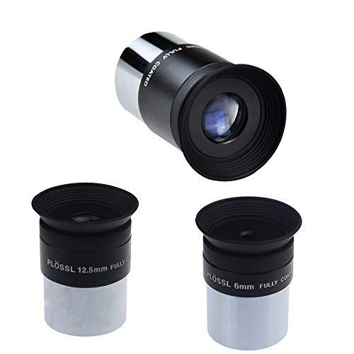"Gosky Telescope 1.25"" Plossl Eyepiece Kit Plossl Eyepiece 6/12.5/20mm - 52 Degree FOV and 4-Element Design …"