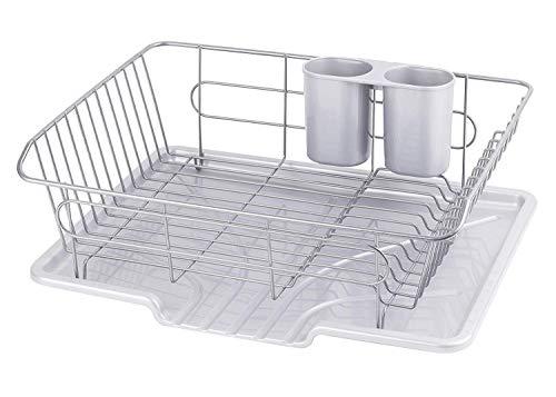 パール金属食器水切りかご水が流れるトレー付タテ置きタイプグレーアルデオHB-4066