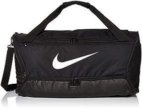 Nike Brasilia Training Medium Duffle Bag, Durable Nike Duffle Bag for Women & Men with Adjustable Strap, Black/Black/White