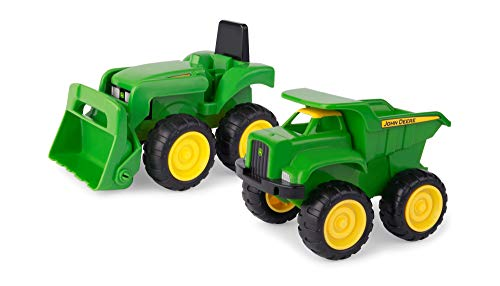 TOMY John Deere 6   Dump Truck & Toy Tractor With Loader Construction Vehicle Set