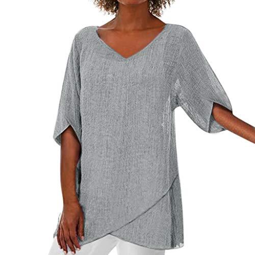 TEFIIR T-Shirt für Damen, Oktoberfest, Leistungsverhältnis Fashion Women Irregular Solid Tops Lose Größe Blouse Geeignet für Freizeit, Dating, Strandurlaub