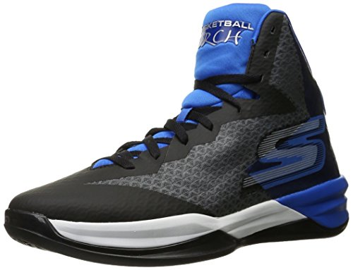 Skechers Performance Men's Go Basketball Torch Basketball Shoe,Charcoal/Blue,10 M US