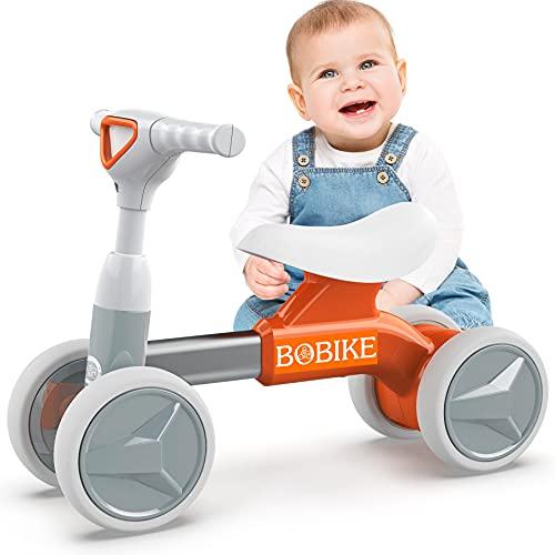 Bicicletta Senza Pedali per Bambini Bici Equilibrio per Bambini Triciclo Bambini 1-2 anni Tricicli Neonati Corridori Giocattoli Regali per Bambini, Arancia