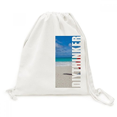 DIYthinker Ocean Sand Strand Wassermelone Saft Bild Leinwand Rucksack-Reisen Shopping Bags