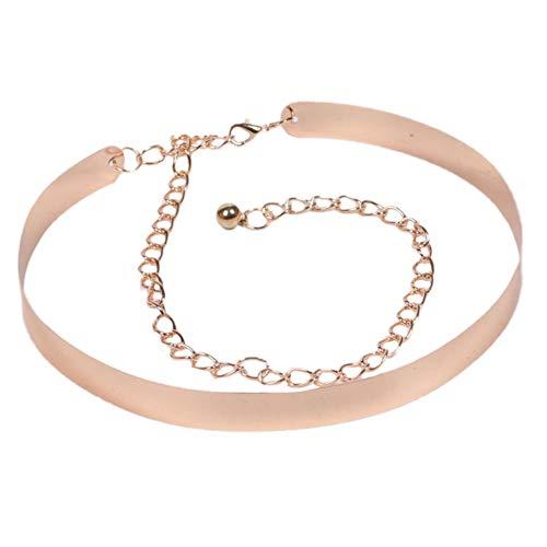 MoreChioce Cinturón de metal para mujer, 110 cm, ajustable, para vestidos, dorado, 2 cm