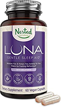Luna | #1 Sleep Aid on Amazon | Naturally Sourced Ingredients | 60 Non-Habit Forming Vegan Capsules | Herbal Supplement with Melatonin Valerian Root Chamomile | Sleeping Pills for Adults