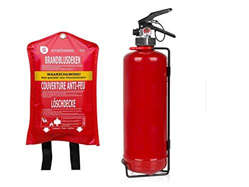 SET: Handige brandblusser/brandblusser 2L, brandklasse AF + branddeken 100x100 cm - brandbeveiliging
